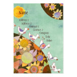 Birds in Flower Land Whimsical Business Cards