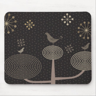 Birds In Love Design3 Black Mousepad