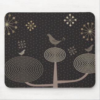 Birds In Love Design3 Black Mousepad