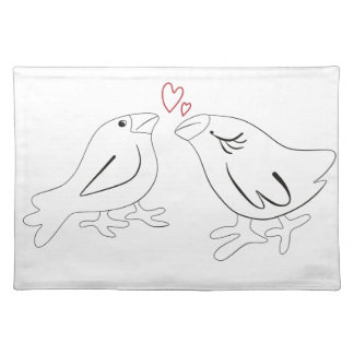 Birds in love placemat
