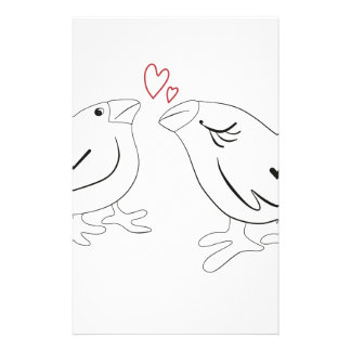 Birds in love stationery