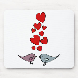 Birds in Love Theme Mouse Pad