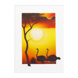 Birds In The African Bush Acrylic Print
