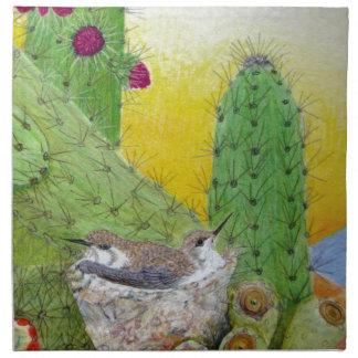 Birds in the desert napkin