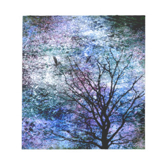 Birds in the Tree in Sparkling Sky Notepad