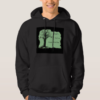 Birds in Tree - Mint Green - Hoodie Sweatshirt