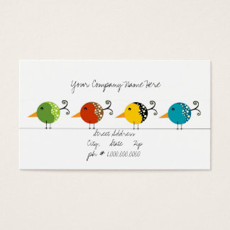 Birds keeping it simple. business card