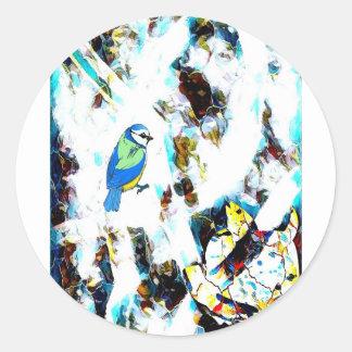Birds Life by RT Mop Classic Round Sticker