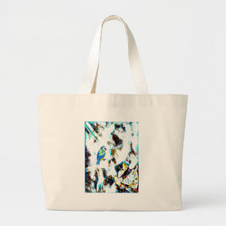 Birds Life by RT Mop Large Tote Bag
