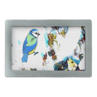 Birds Life by RT Mop Rectangular Belt Buckles