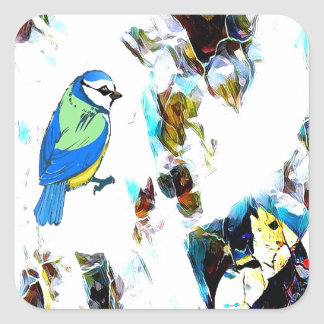 Birds Life by RT Mop Square Sticker