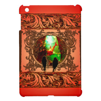 Birds looking in a fantasy world iPad mini cover