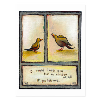 Birds love relationship original art For No Reason Postcard