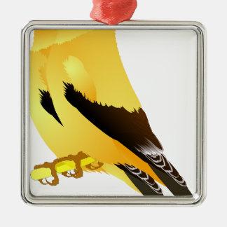 birds metal ornament