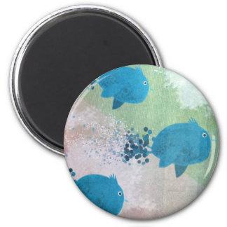 Birds Migrating 6 Cm Round Magnet