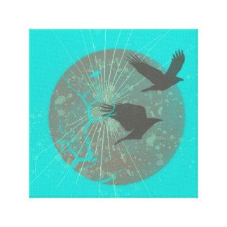 Birds & Moon Graphic Design Wall Art