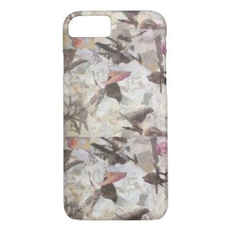 Birds & Music Paper Collage phone case