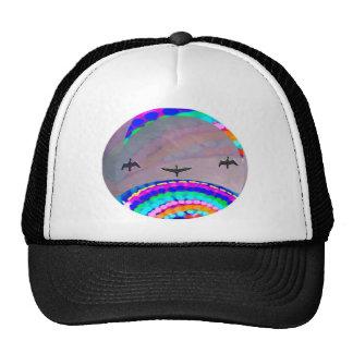 Birds n Moon Trucker Hat