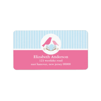Birds Nest Address Label