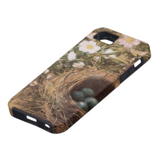Birds Nest and Dogroses by Hill,Victorian Fine Art iPhone 5 Cases