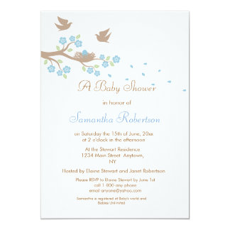 Birds Nest Baby Shower Invitation