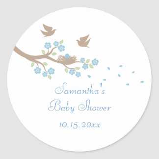 Birds Nest Baby Shower Sticker