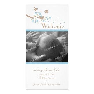 Birds Nest Birth Announcement Card