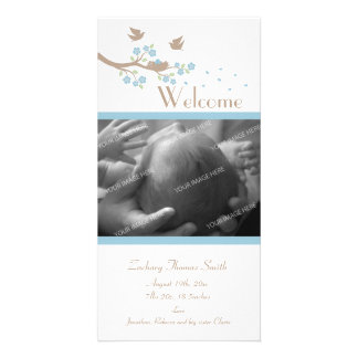 Birds Nest Birth Announcement Photo Greeting Card
