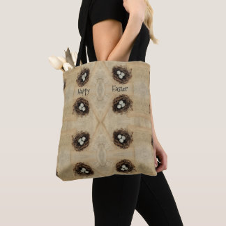 Bird's Nest With Eggs Modern Vintage Easter Tote Bag