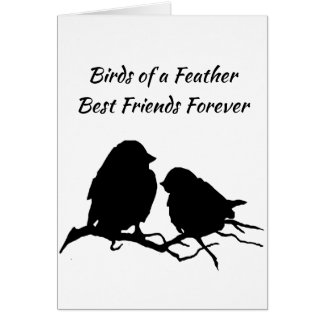 Birds of a Feather Best Friends Forever Card