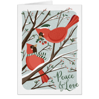 Birds of a Feather Holiday Greeting Card