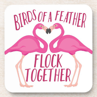 Birds Of Feather Beverage Coaster
