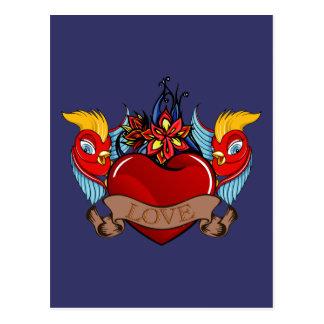 Birds of Love Postcard