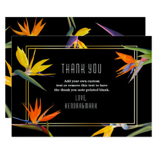 Birds of Paradise, Floral Thank You Cards