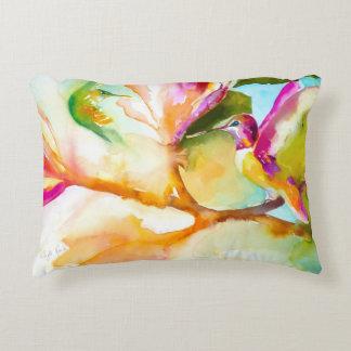 Birds of Paradise Hummingbird Print Decorative Cushion