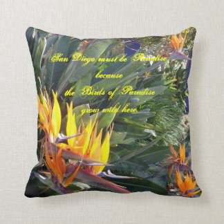Birds of Paradise Medium 16X16 Throw Pillow