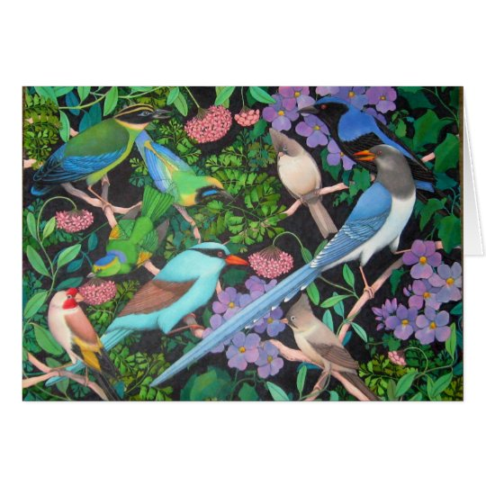 Birds of the Asian Jungles Card