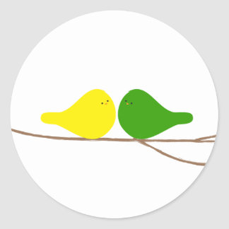 Birds on a Branch Classic Round Sticker
