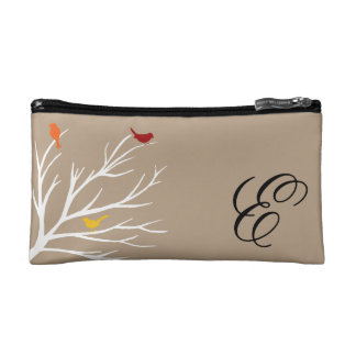 Birds on a Branch Cosmetic Bag