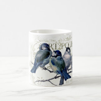 Birds on a branch classic white coffee mug