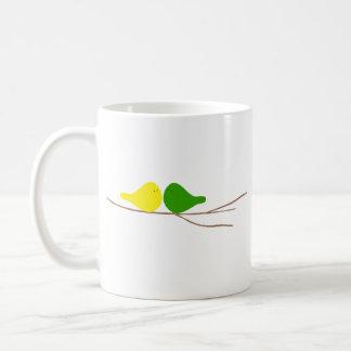 Birds on a Branch Basic White Mug