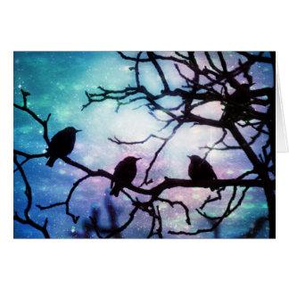 Birds on a Branch - Starlight Card