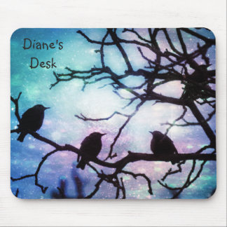 Birds on a Branch -Starlight MousePad