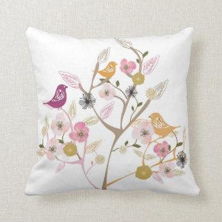 Birds on a cherry blossom tree American MoJo Pillo Cushions