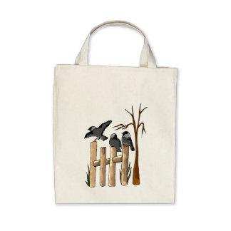 Birds On A Fence Bags