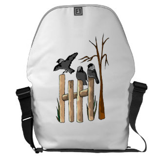 Birds On A Fence Courier Bags