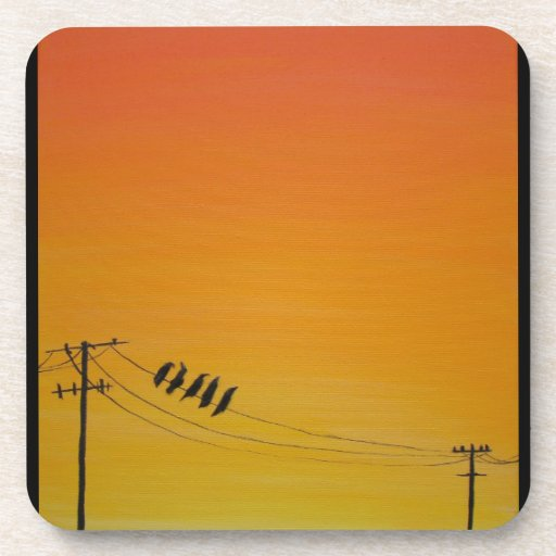 Birds On A Wire at Sunset Coasters