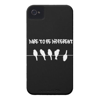 Birds on a wire – dare to be different (black) iPhone 4 case