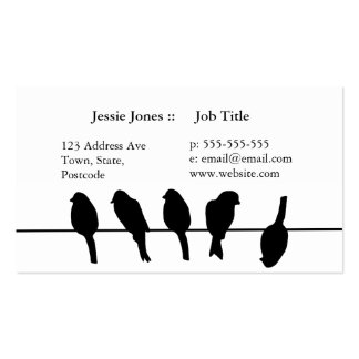 Birds on a wire – dare to be different business card