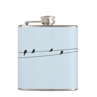 Birds on a Wire Flask